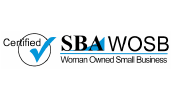 Certified SBA Woman Owned Small Business badge